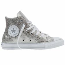 Converse All Star Stingray Metallic Embossed Silver Womens Trainers