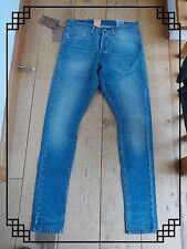 LEVIS 566 STONEWASHED WASHED MID SLIM TAPERED BLUE JEANS 28 LONG BNWT