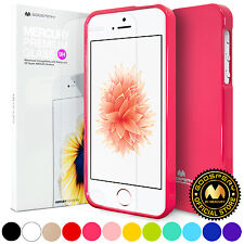 GOOSPERY® Slim Jelly TPU Bumper Case Cover Screen Protector For iPhone 5 5S SE