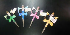 """Embroidery Scissors 4 3/8"""" 11mm Snips ~ Babushka Style ~  Choice of 4 colours"""