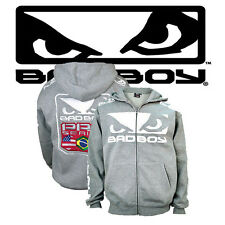 Bad Boy Walkout Heather Grey Hoodie,UFC,BJJ,Gym,Powerlifting,Crossfit,Affliction