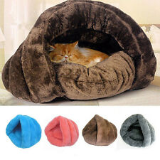 Pet Dog Cat Warm Sleeping House Bed Mat Cave Pad Puppy Igloo Nest Kennel Pad