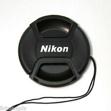 Center Pinch Front Lens Cap 49 52 55 58 62 67 72 77 82mm For Nikon Camera