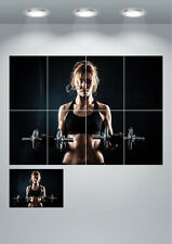 Sexy Gym Girl Bodybuilding Motivational Fitness Large Wall Art Poster Print