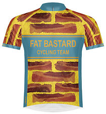 Primal Wear Fat Bastard Bacon Cycling Jersey Mens short sleeve bicycle bike food