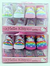 Hello Kitty 4-Pack Baby Socks Booties Size 0-12 Months With Potected Toes BNIP!!