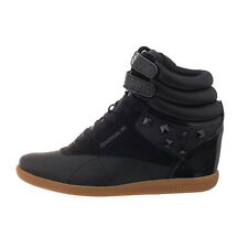 Reebok F/S Hi Int Wedge Women'S Shoe Sneaker Platform Wedge Heel black new