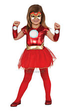 Girls Marvel LIL IRON LADY Fancy Dress Costume Girls Superhero Costumes