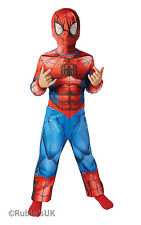 Classic Ultimate Spider-Man Fancy Dress Costume Boys Red Superhero Costumes