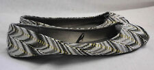 Ballet Flats Blue Suede Size M New Black Silver Gold White Geometric Man Made