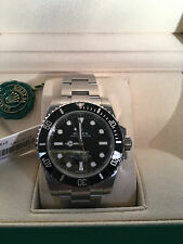 ROLEX   STEEL SUBMARINER NEVER WORN   BRAND NEW IN BOX MODEL 114060 CERAMIC