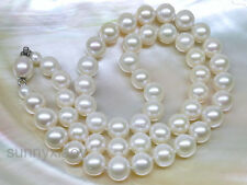 """White 7.5-8.5mm AAA Akoya Genuine Pearl Necklace 17"""" 18"""" 19"""" 14k Jewelry Clasp"""