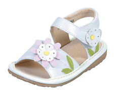 White Flower Sandals Girls Baby Toddler Kids Squeaky Shoes