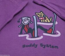 NWT Life is Good T Shirt Women's Ski Dog Skiing Snow Dogs BUDDY SYSTEM L Large