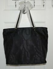 Furla Lightweight Shoulder Bag Tote Shopper Purse Nylon/Leather Made in Italy