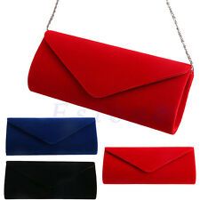 Women Velvet Evening Clutch Chain Bag Handbag Formal Chain Shoulder Tote Purse