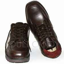 Men's Genuine Red Goose Brown Leather Boots Lace up Smart Shoes UK 7-10 RRP £110