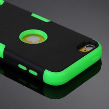 High Impact Hybrid Cover For iPhone 4 4S 5C Shockproof Silicon Rubber Matte Case