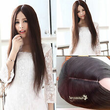 nature no bang women lady straight slight curly long full wig costume daily hair