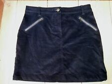 NEXT NAVY BLUE CORDUROY NEEDLECORD CORD MINI SKIRT UK 8 BNWT ZIP POCKET DETAIL