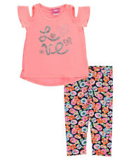 """Girls Luv Pink Little Girls' Toddler """"Rhinestone Heart"""" 2-Piece Outfit"""