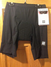 De Soto Forza Tri Short With Integrated Pad - Various Size - Black/Black White