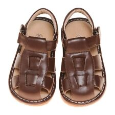 Boy's Leather Toddler Brown Squeaky Sandals Sizes 1,2,3,4 and 7