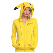 2017 New Pikachu Pokemon Cosplay Anime Jacket Tail Zip Hoody Sweatshirt Hoodies