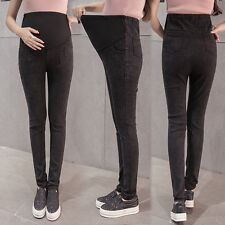 Maternity Jeans Skinny Denim Maternity Trousers Pregnancy Pants Over Bump M-XXL