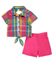 """Penny M Little Girls' """"Gilded Plaid"""" 2-Piece Outfit (Sizes 4 - 6X)"""