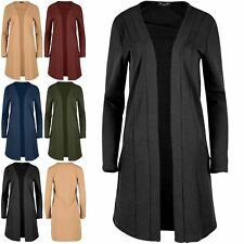 Womens Open Front Knit Long Sleeve Cardigan Ladies Side Zip Open Front Mini Top