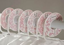 Pink swirls #12 Girl Baby Closet Dividers Clothes Organizers 6