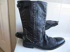 New John Varvatos Fleetwood Studded Pull-on Boots.Sold OUT $1600 Hand Made Italy
