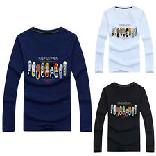 Fashion Winter Men's Slim Fit Long Sleeve T-shirts Tee Shirt Tops Pullover GN