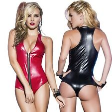 Women Latex Catsuit Fetish Body Lingerie Erotic Clubwear Stripper  For Women