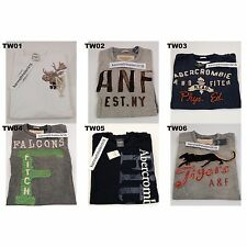 NWT ABERCROMBIE & FITCH MENS CLASSIC GRAPHIC TEE MULTI COLOR SIZE LARGE A&F