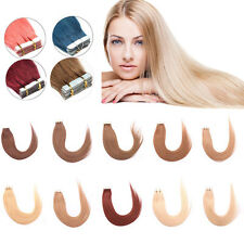 """Tape In Skin Weft 100% Remy Human Hair Extensions 16"""" 18"""" 20"""" 22"""" 24"""" 20pcs/set"""