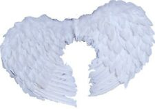 Fancy Dress Costume Accessories SW Halloween Small White Angel  Feather Wings
