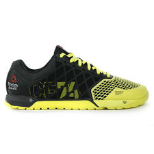 Reebok Men's Crossfit Nano 4.0 Black/High Vis Green Shoes M40521 NEW!