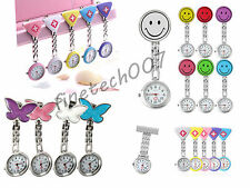 New Cute Pendant Butterfly Nurse Clip-on Brooch Quartz Hanging Pocket Watch F7NL