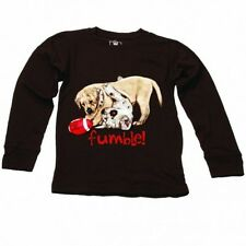 NWT Wes & Willy Chocolate Brown Boys Fumble Puppies Tee Size 4