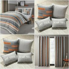 Modern Textured Stripe Bedding Sets Reversible Cotton Blend Striped Duvet Covers