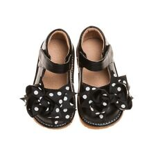 Girl's Toddler Leather Black Mary Jane Clip On Squeaky Shoes