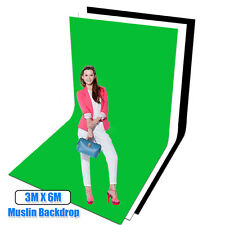 NEW Photo Studio Video Screen 3x6m Muslin Largest Chromakey Backdrop Background