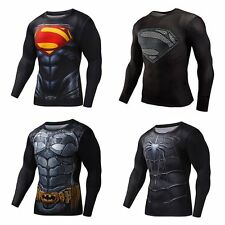 Men's Marvel Superhero Compression T-Shirt Sports Cycling Jersey Party Costume