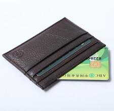 Mens Womens Leather Small ID Credit Card Storage Wallet Holder Slim Purse