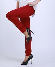 Woman Jeans Big Size Pants Candy Color Slim Trousers Fit Skinny Big Stretch