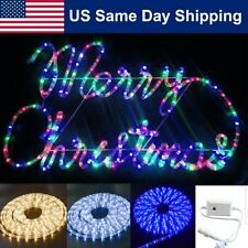 40' LED Xmas Rope Light Home 8 Mode Party Lighting Decoration Outdoor Indoor
