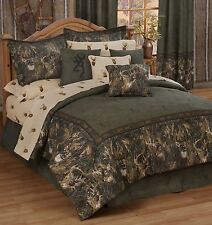 Browning® Whitetails Deer Buck Comforter Bed Set~ 5 Sizes Hunting Cabin Decor