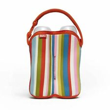BUILT Bottle Buddy - Two Bottle Tote - Pink & Stripe